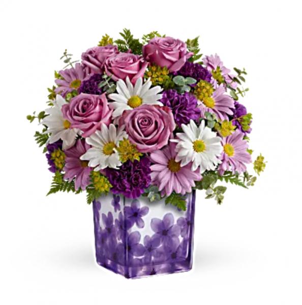 Teleflora's Dancing Violets Bouquet (