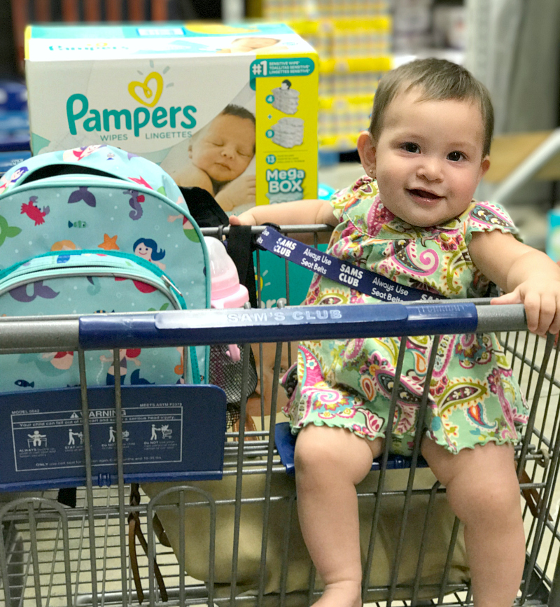 Enjoy the convenience of shopping at Sam's Club for Pampers in bulk