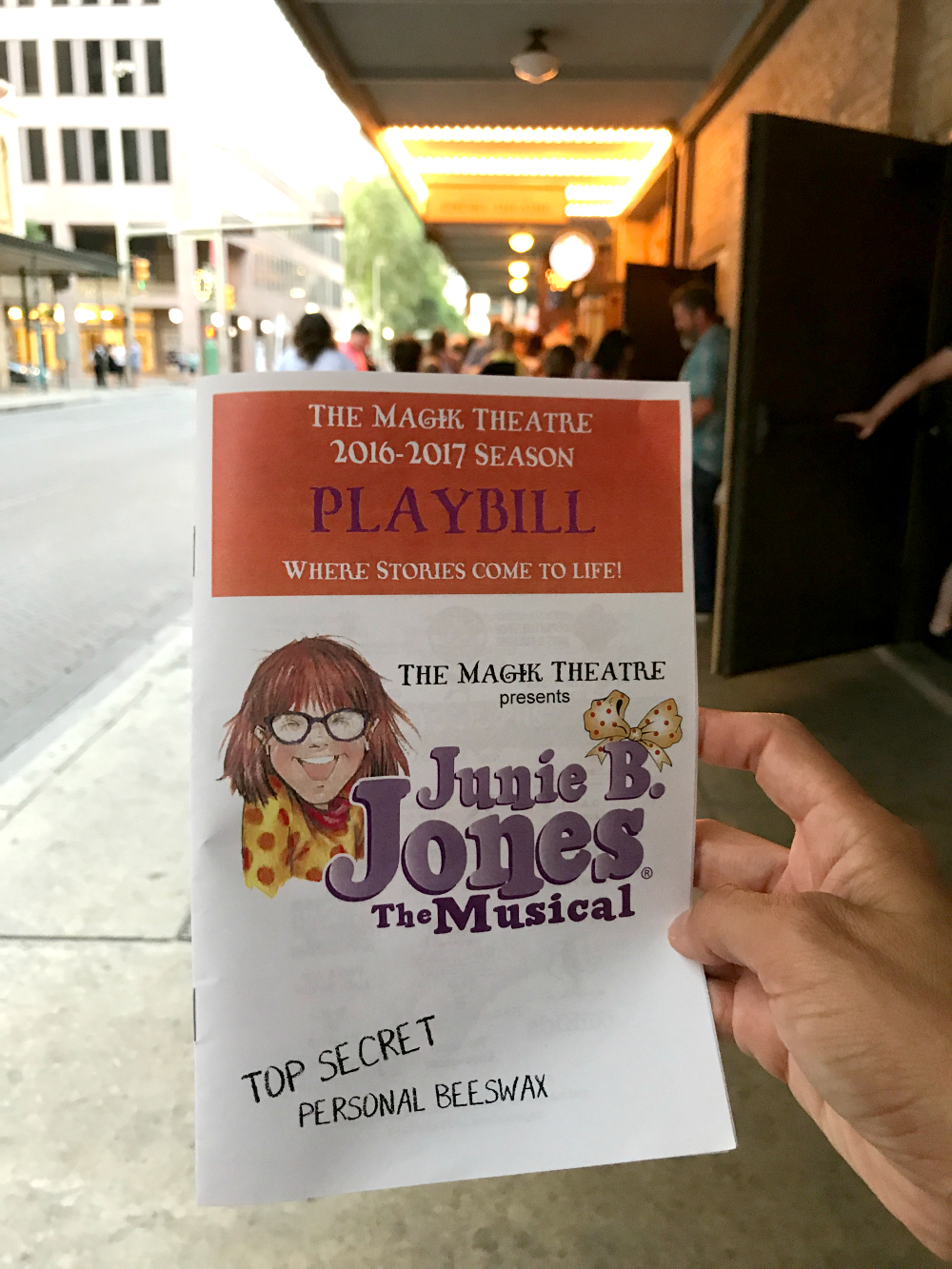 Junie B. Jones Playbill