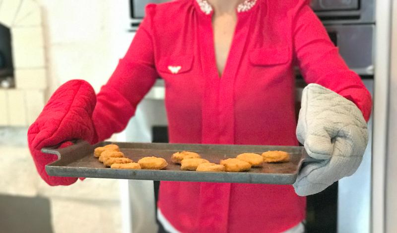 Wonderwoman making Tyson Chicken Nuggets
