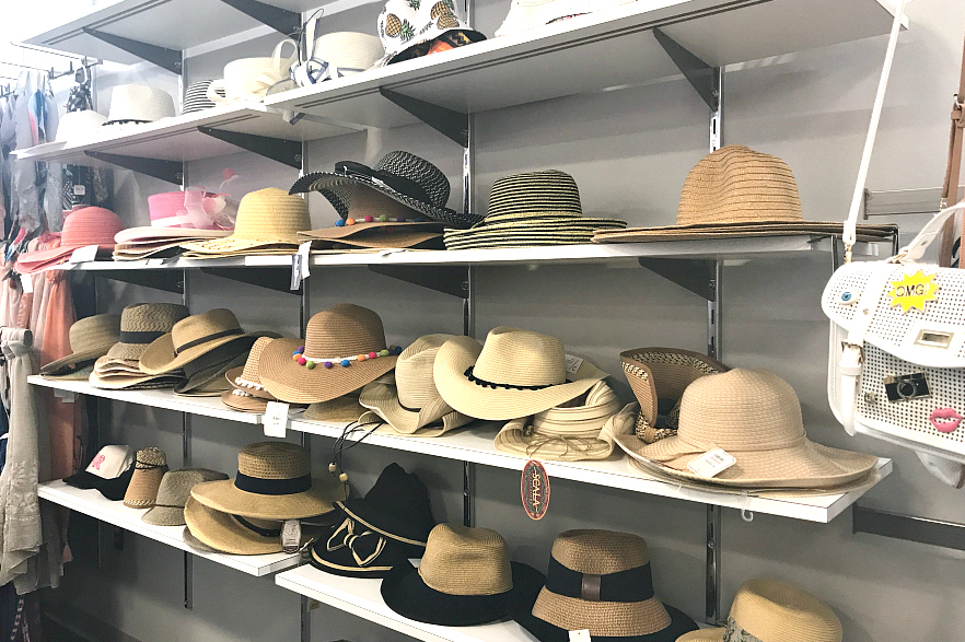 Summer hats at Macy's Backstage
