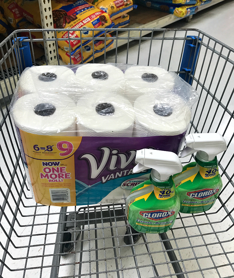 visit your local Walmart and pick up your own Clean Squad of Viva paper towels and Clorox cleaning spray
