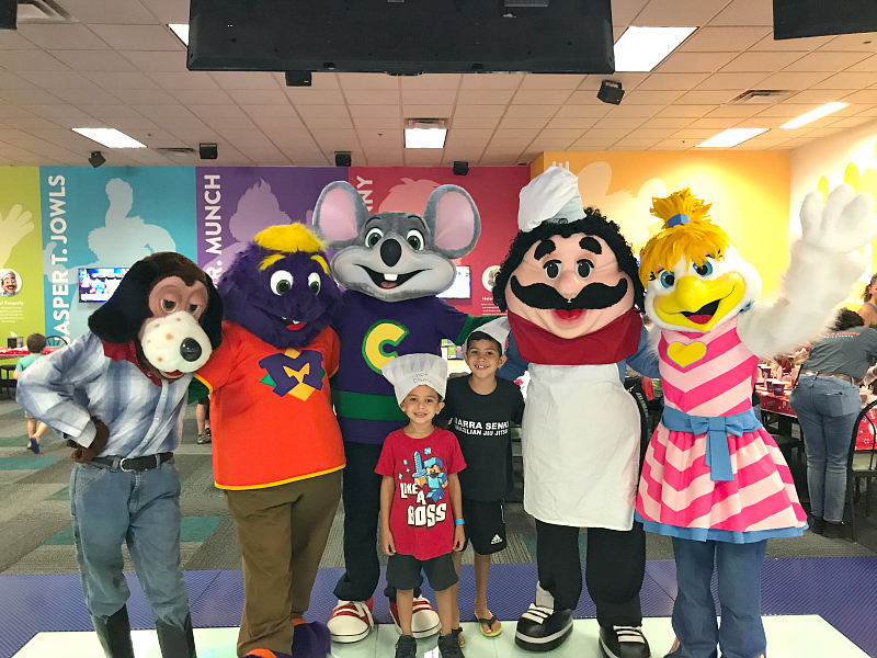 Chuck E Cheeses remodel in San Antonio