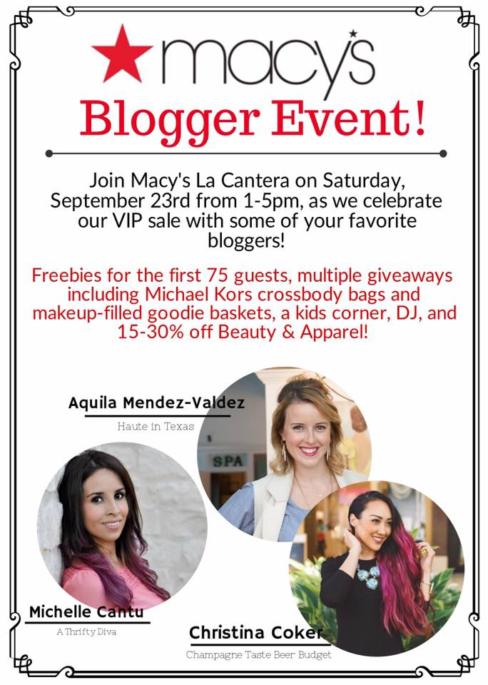 Macy's Blogger Event