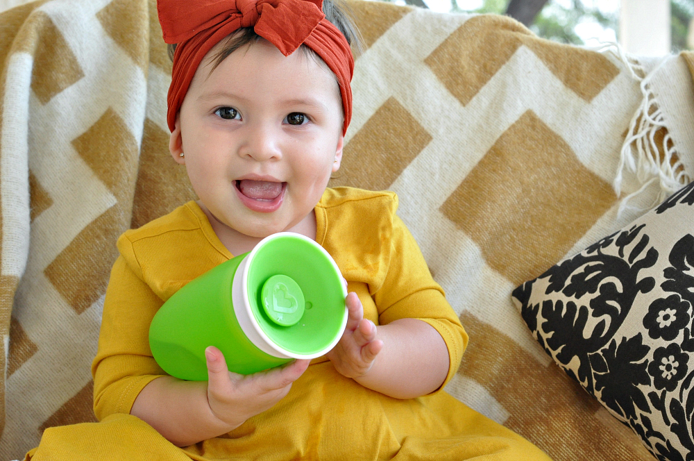 Miesha with Munchkin cup