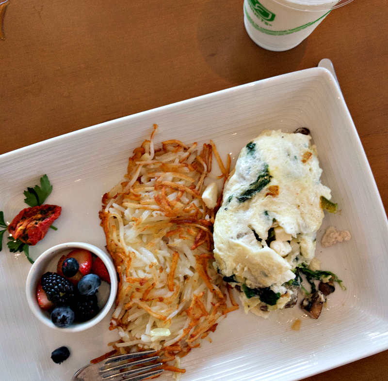 Breakfast at Current Egg White Omelet
