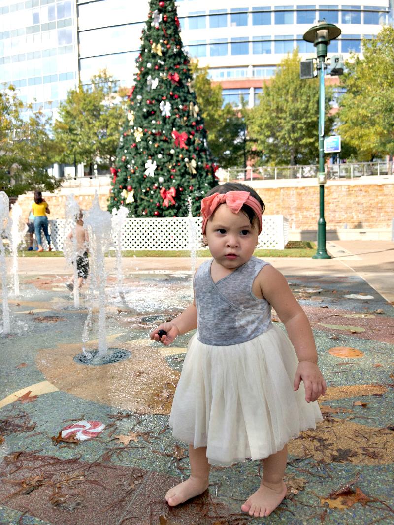 Waterway Square Park splash pad in Woodlands