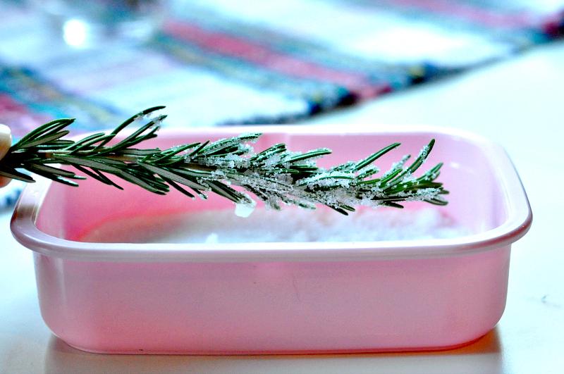 My Favorite Holiday Sangria rosemary sprigs