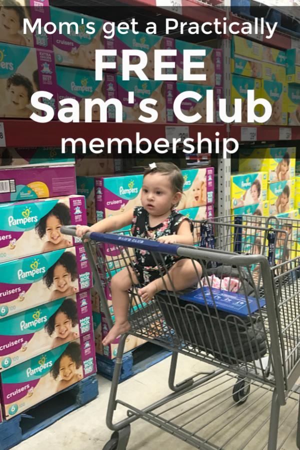 moms get a practically free Sam's Club Membership #NewMomsLoveSams