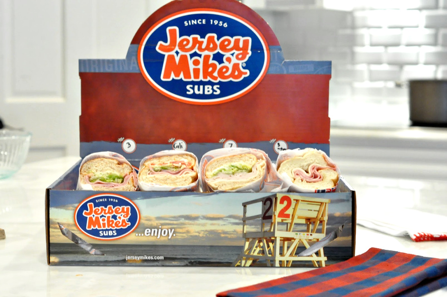 Jersey Mikes Subs catering box for game day
