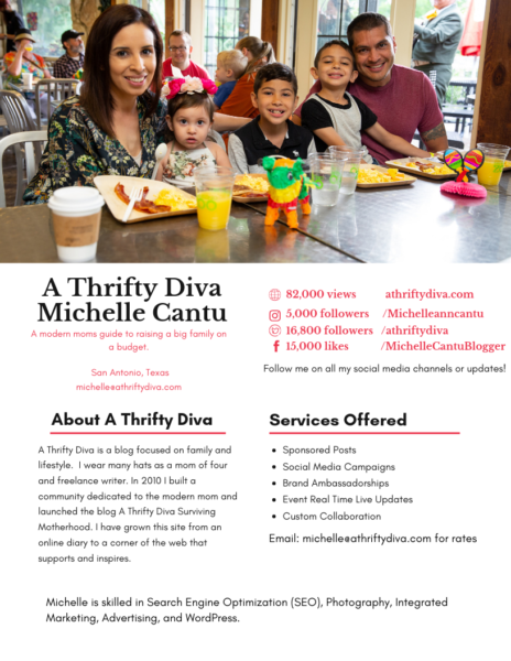 about a thrifty diva media kit san antonio blogger