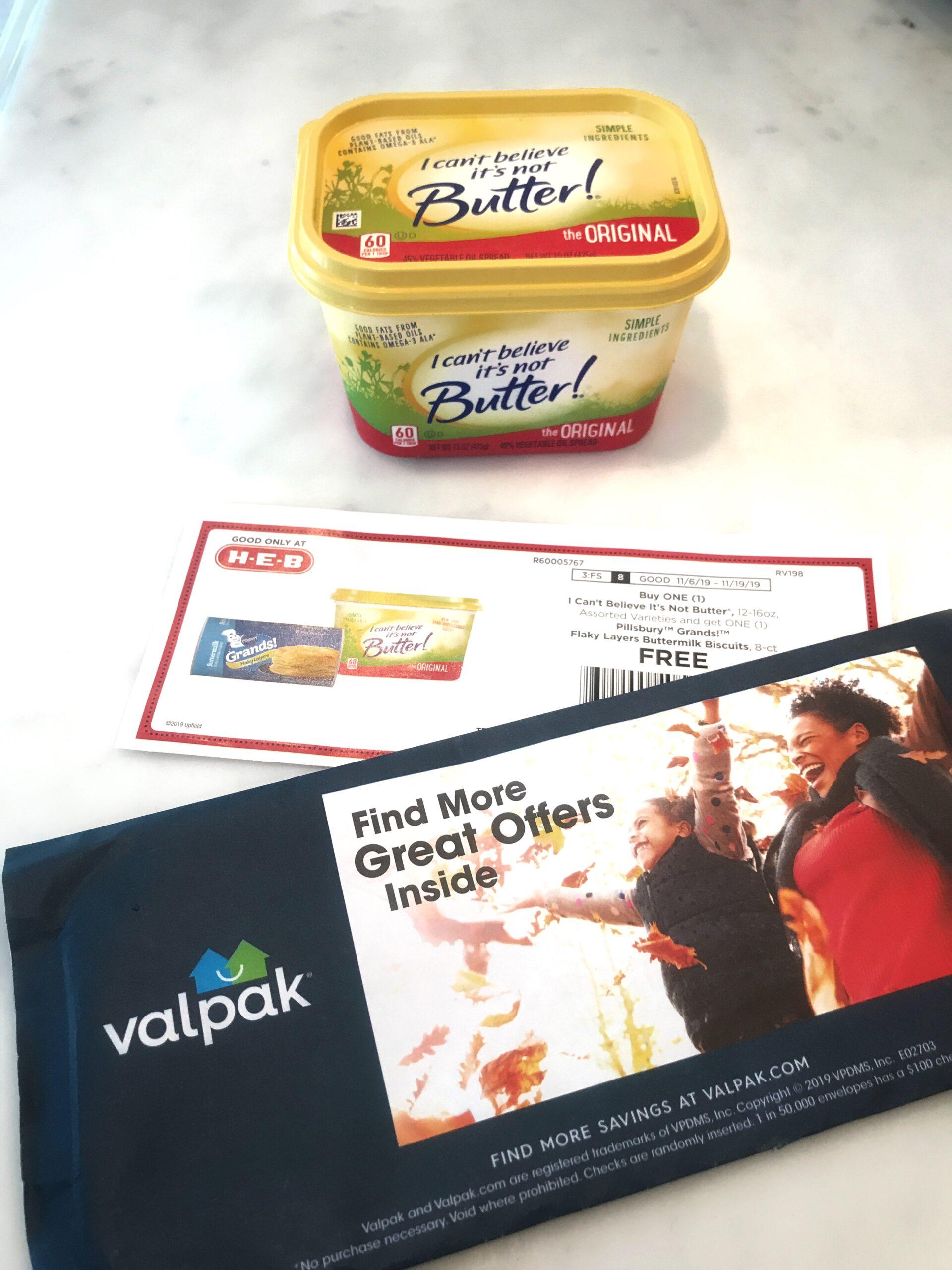 Buy I Can't Believe It's Not Butter, get Pillsbury Grands free
