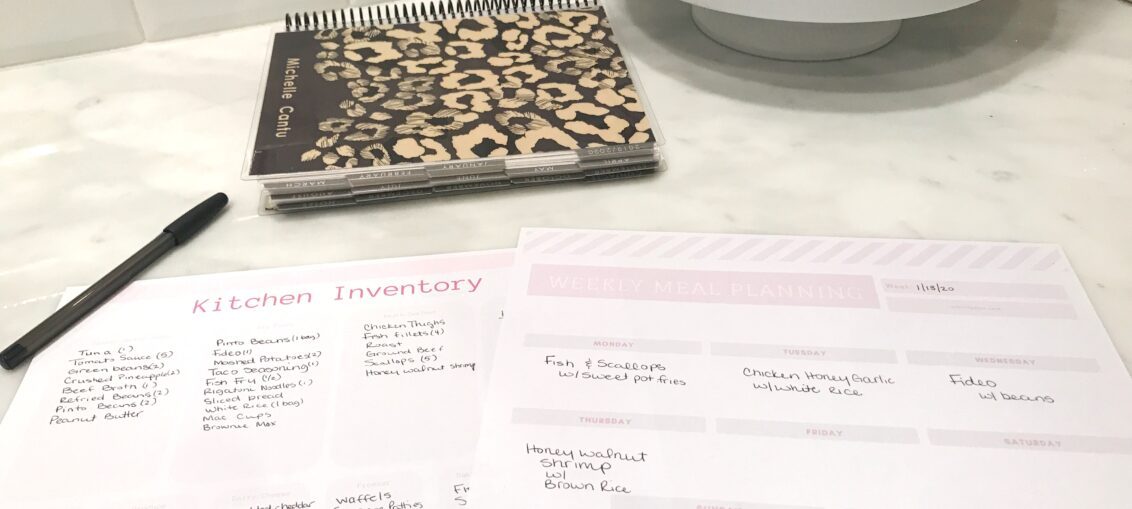 How to meal plan and organize your kitchen with printable inventory lists